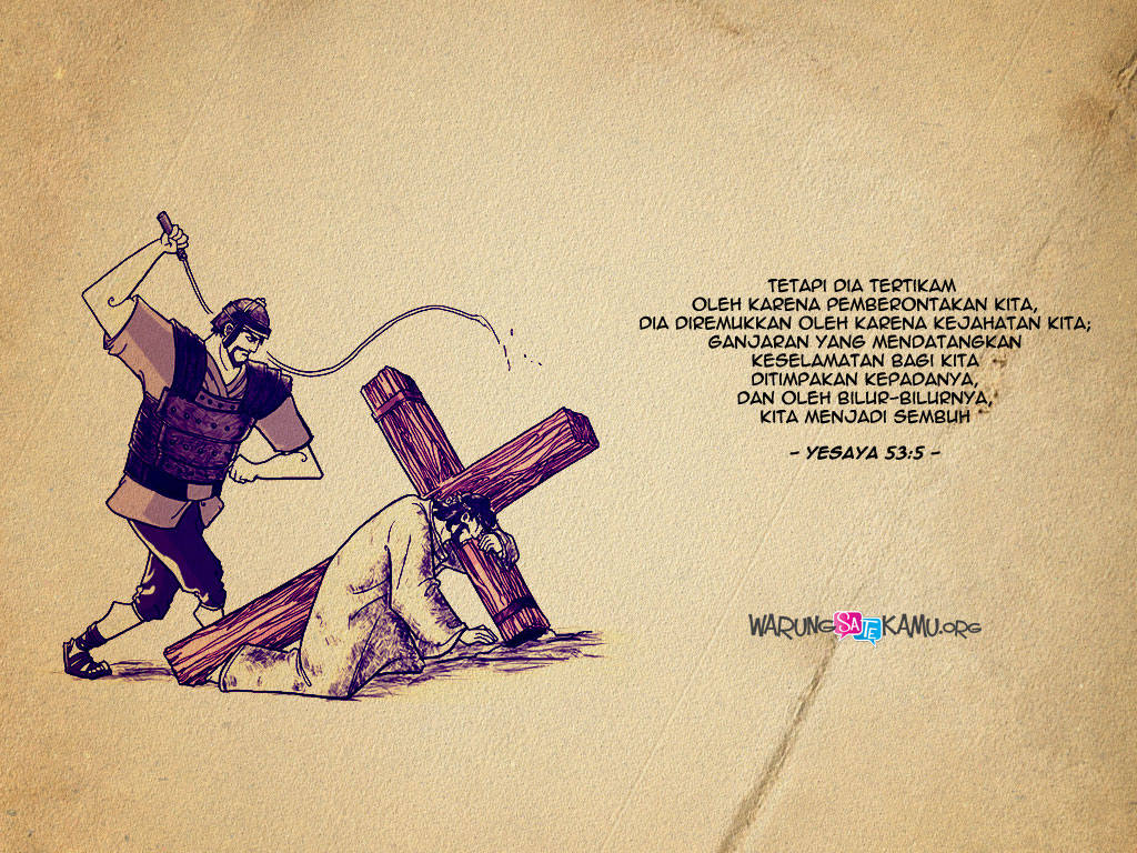Wallpaper Paskah: Yesaya 53:5
