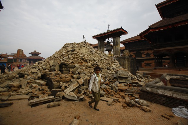 Durbar Square after the earthquake