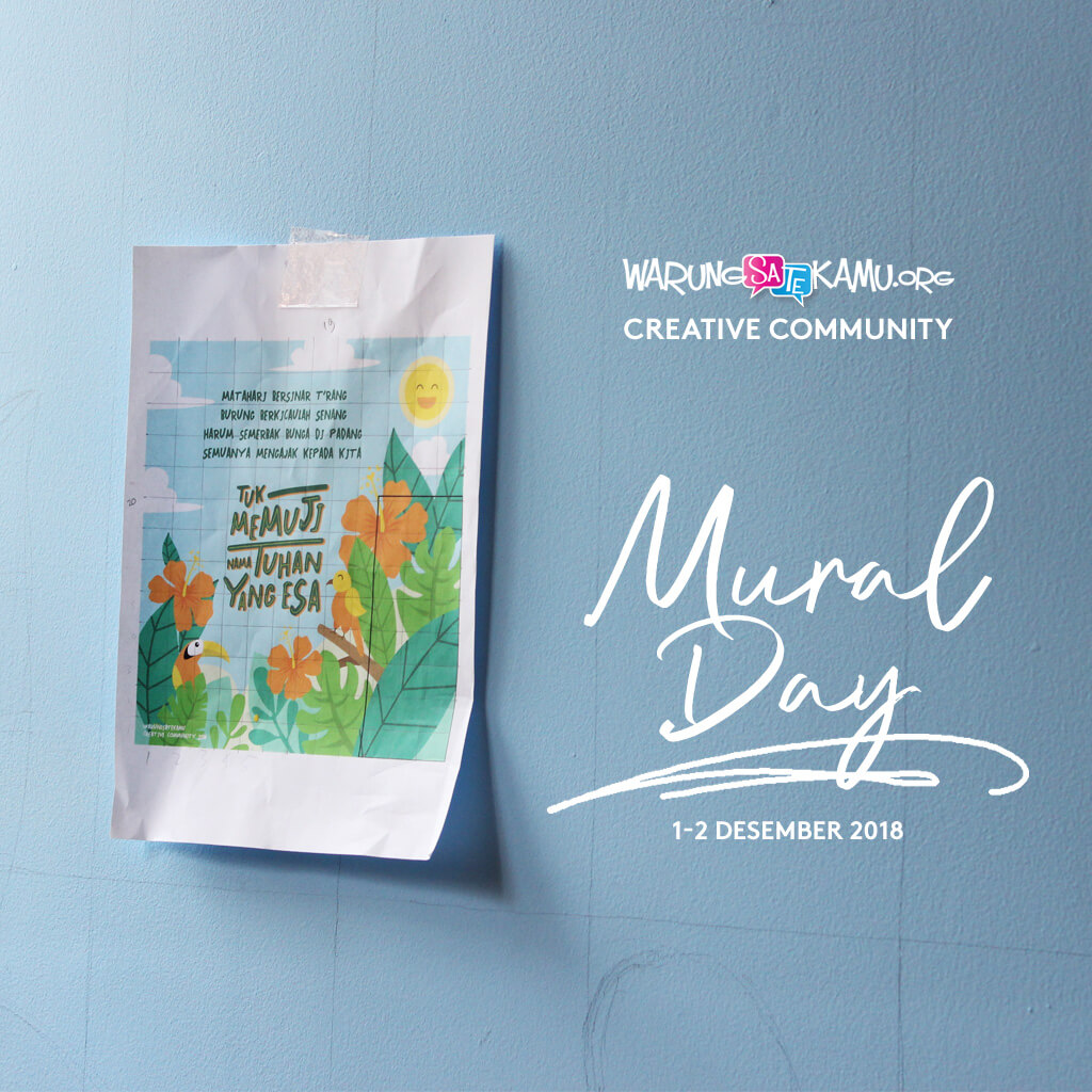 Mural Day – WarungSaTeKaMu Creative Community